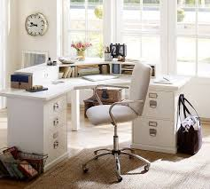 pottery barn home office furniture. Create A Gorgeous Home Office In White With Decor From Pottery Barn Furniture