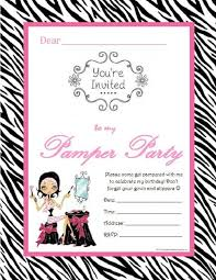 Free Pamper Party Invitation Templates 10 Spa Party Invitations Free