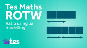 ratio using bar modelling secondary tes maths resource of the week