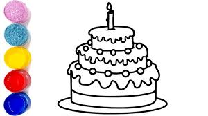 Happy Birthday Cake Drawing How To Draw Birthday Cake For Kids
