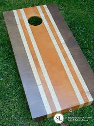 Homemade Wooden Board Games Painting Cornhole Boards stained stripes bystephanielynn 76