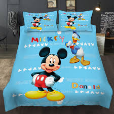 details about mickey mouse duvet cover pillow cases kids cartoon quilt cover bedding set