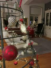 Weihnachtsbaum Eisen Rot Und Silber Weihnachtsdeko Rot
