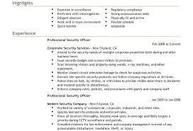 Security Guard Resume Awesome Security Guard Resume Example Sample Stupendous Skills Examples