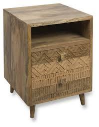 drawer mango wood bedside unit