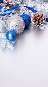 Iphone Blue And Silver Christmas Wallpaper