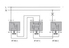 <b>Jung</b> EP407U ECO profi, <b>Механизм</b> промежуточного <b>переключателя</b>