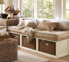 storage bench for living room: living room leather upholstered tufted storage bench