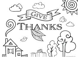 Give Thanks Coloring Page Printable Give Thanks Coloring Page Pages