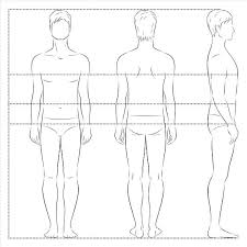 Male Fashion Drawing Figure Template Male Figure Templates For