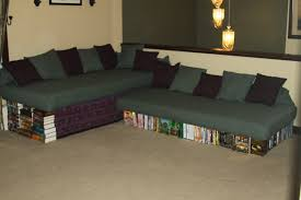Our New Diy Couch Sofa Made From Twin Xl Mattresses Cement Blocks As Well  As Attractive