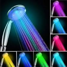 showerhead 7 color change led romantic light water bath bathroom shower head glow color multicolored
