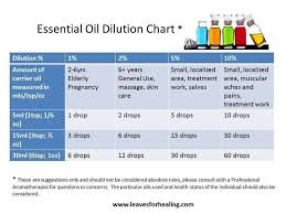 Rollerball Dilution Chart Doterra Essential Oil Dilution Chart For Babies Www