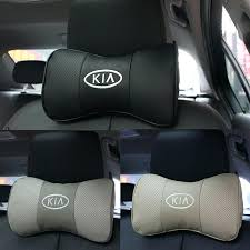 genuine leather car seat covers 2 x headrest neck pillow auto cover head rest cushion for genuine leather car seat covers