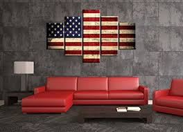 5 choice rustic american flag canvas red white wall art patriotic concept usa flag painting