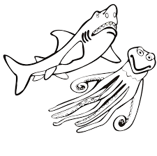 Small Picture Realistic Shark Coloring Pages Sharks Coloring Pages Pinterest