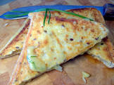 cheesy chive and onion toasties jaffles