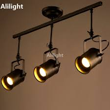 industrial track lighting industrial track lighting zoom. retro loft vintage led track light industrial lamp bar clothing personality rail three heads lighting zoom