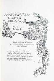 A Midsummer Nights Dream By Rackham Arthur William Shakespeare