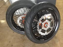 husqvarna 701 enduro supermoto wheels with tires cycle house