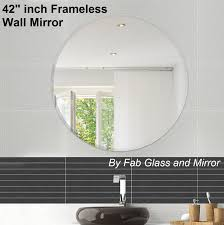 48 inch mirror. Home Interior: Mainstream 42 Inch Mirror Frame Less Wall Mirrors From 48