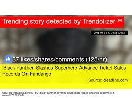ticket sales records black panther slashes superhero advance ticket sales
