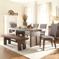 terra vista wood dining table in casual walnut with matching dining chairs bench sold