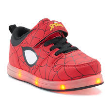 Spiderman Light Up Shoes Size 13 Marvel Spider Man Toddler Boys Light Up Sneakers Products