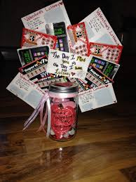 valentines day present for the boyfriend some homemade valentines day present for the boyfriend some homemade lottery tickets a mason jar filled