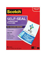 9 Finish Sheets ls854-25g-wm X com Supplies Self-sealing 5 Size Pouches 0 25 In 11 Scotch Laminating Office Gloss In Letter Products Amazon