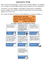 graphics on pinterestargumentative writing   the toulmin model from your smarticle shop on teachersnotebook com
