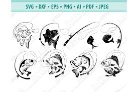 All clipart with transparency, scaling to any size you want. Bass Fishing Svg Fishing Svg Fishing Hooks Png Dxf Eps 422106 Svgs Design Bundles
