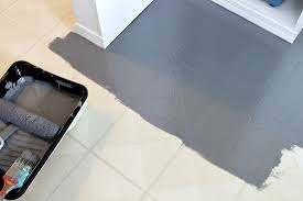 painting vinyl tile floors before and after