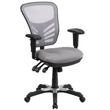 office chair controls. Grey Nylon/Mesh Multifunction Executive Swivel Office Chair With Triple Paddle Control Mechanism Controls N