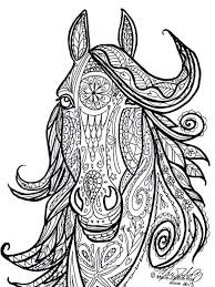 Small Picture Horse Tribal Head Art by Marie Justine Roy Color THIS