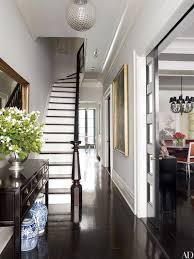 the foyer of brooke shieldss new york city townhouse decorated by david flint wood is furnished