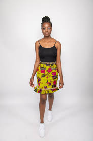 Aztec Design Skirt Aztec Short Frilly Skirt