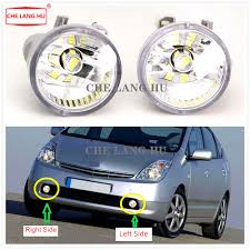 Car Front Bumper Led Lights Us 8 15 49 Off Led Fog Lamp Fit For Toyota Prius 2004 2005 2006 2007 2008 2009 Car Styling Front Bumper Led Fog Light Fog Lamp With Bulbs On