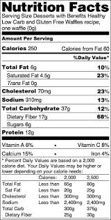 healthy low carb and gluten free waffles nutrition label healthy dessert recipes at desserts with
