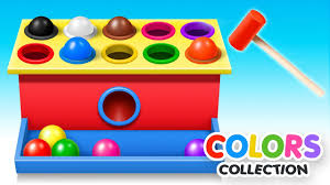 Learn Colors With Wooden Ball Hammer Educational Toys Colors