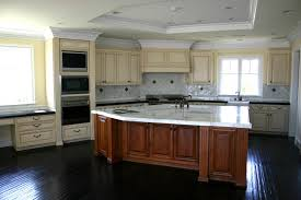 Brown And White Kitchen Cabinets With Light Countertops Themes Edina