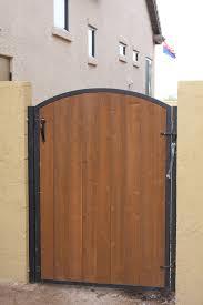 gatewithwood iron gates with wood w89