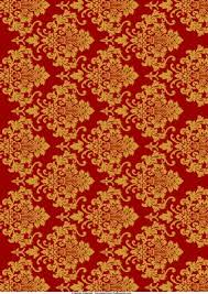 Gold Damask Background Red Gold Damask Background