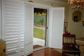 attractive plantation shutters for sliding glass doors on door decorating strangetowne how to