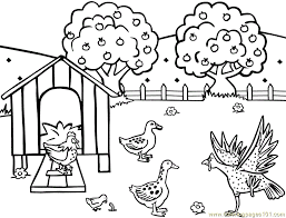 Small Picture Chicken hen feeding farm Coloring Page Free Chicks Hens and