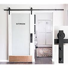 sliding barn doors. 8-Foot Heavy Duty Sliding Barn Door Hardware Kit (Black) ▫ Includes Easy Doors I