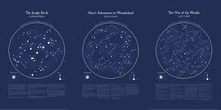 Star Chart Without Constellations Nick Rougeuxs Literary Constellations Map The First