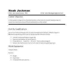 Samples Of Career Objectives For Resumes Writing An Objective For A Resume Wikirian Com