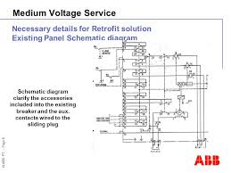 medium voltage service hpa development information ppt 8 © abb pt page 8 medium voltage service necessary details for retrofit solution existing panel schematic