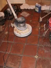 terracotta floor before